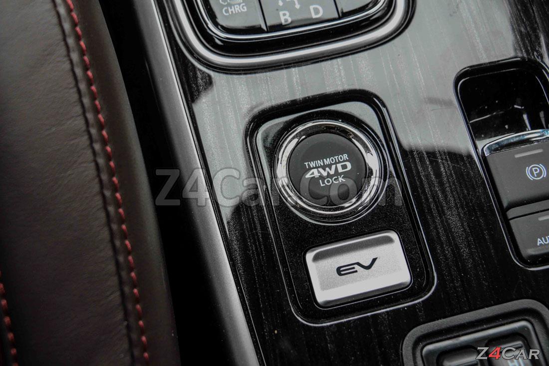دکمه چهارچرخ محرک میتسوبیشی اوتلندر PHEV