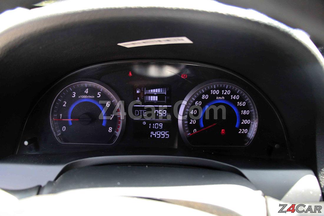 صفحه آمپر و کیلومترشمار زوتی Z300 (آریو S300)