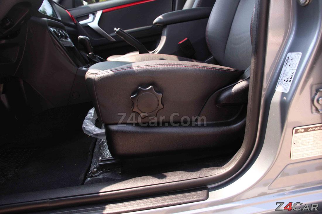 تنظیمات صندلی جلو ام وی ام x33 s