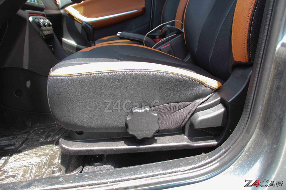 تنظیمات صندلی جلو ام وی ام x22