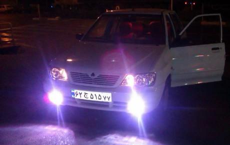 تغییر در میزان نور و رنگ استاندارد چراغ خودرو جریمه دارد