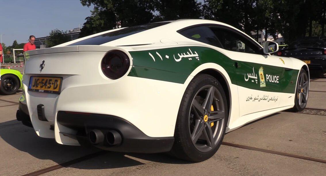 فراری اف 12 هلندی پلیس ایران را ببینید!