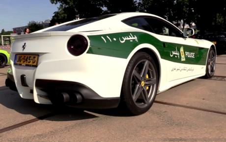فراری اف 12 هلندی پلیس ایران را ببینید! ویدیو