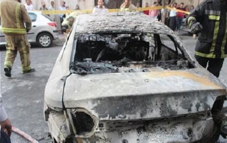 آتش سوزی دو دستگاه خودروی رنو فلوئنس + تصاویر