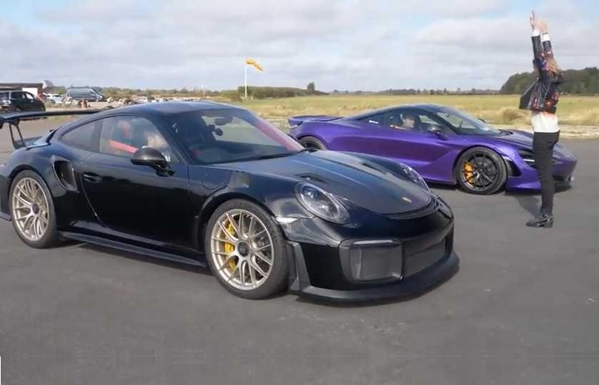 مسابقه درگ مک لارن 720 اس و پورشه 911 GT2 RS + ویدیو