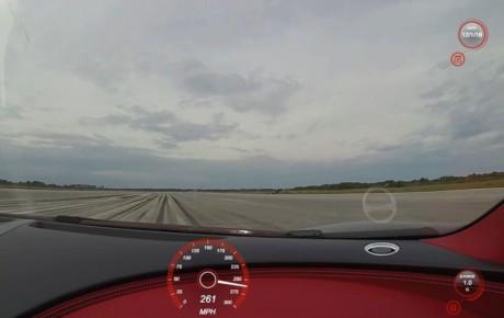 فیلم ثبت سرعت 420 کیلومتر بر ساعت توسط بوگاتی شیرون