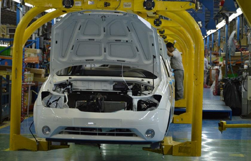 فروچاله کاهش تولید خودرو