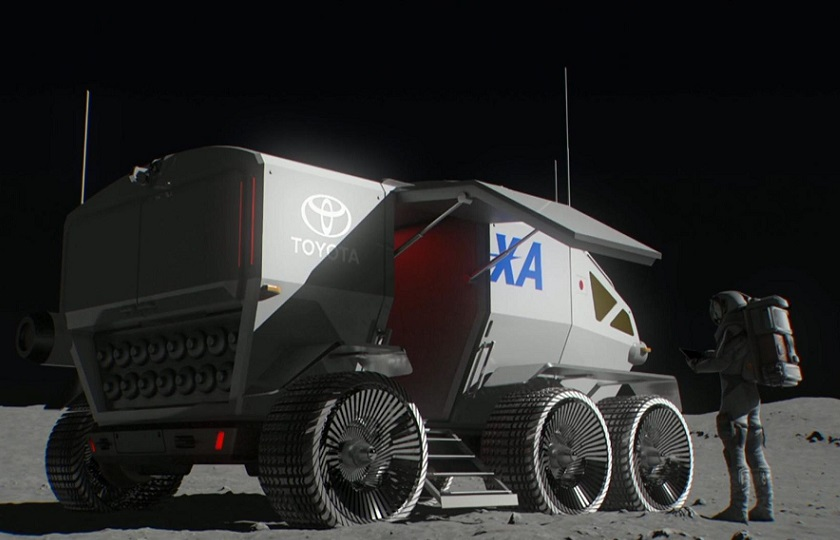 پرتاپ ماه نورد تویوتا به فضا