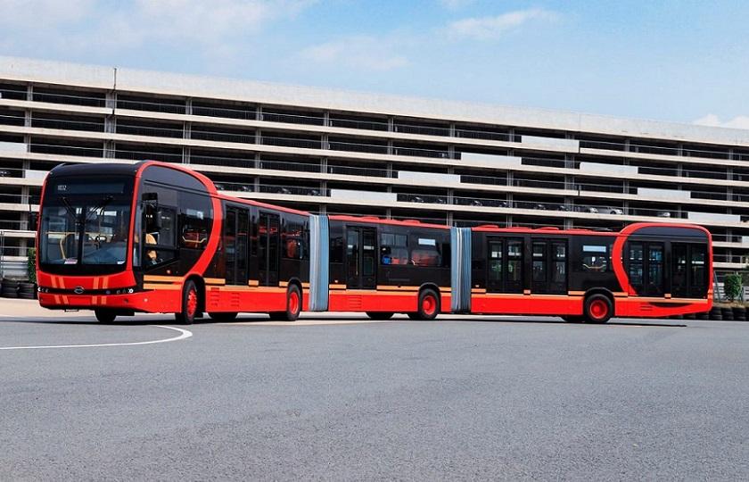 طویلترین اتوبوس برقی جهان رونمایی شد