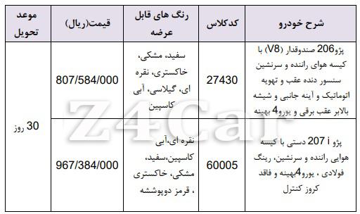 فروش فوری محصولات ایران خودرو یکشنبه 5 خرداد 98