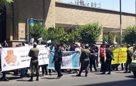 تجمع خریداران برلیانس گروه پارس خودرو مقابل وزارت صنعت