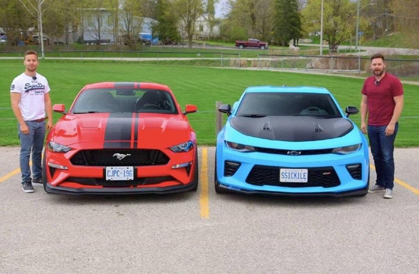 نبرد تن به تن فورد موستانگ GT PP2 مدل 2019 با شورولت کامارو SS 1LE + ویدیو