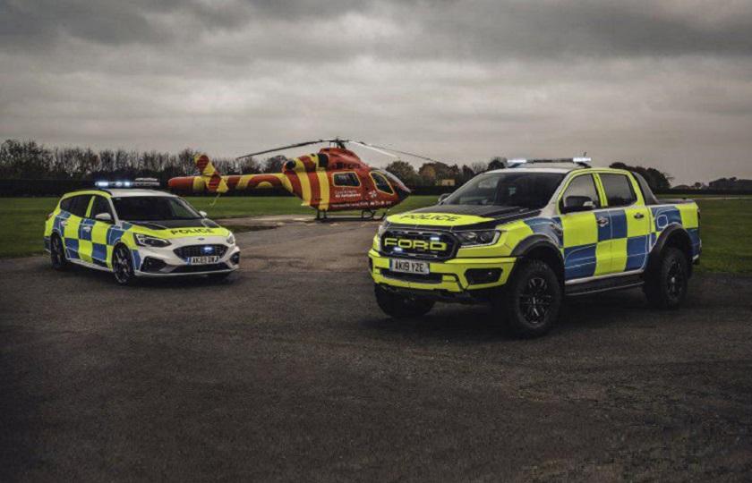 استخدام فورد رنجر رپتور و فوکوس ST استیشن در پلیس بریتانیا