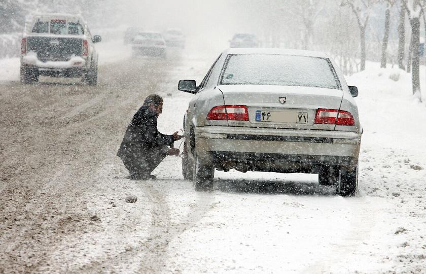 نحوه رانندگی در زمان بارش برف