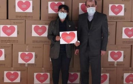 شرکت چری به ایران ماسک اهداء کرد