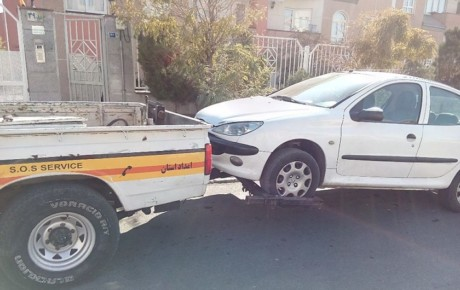 حمل خودرو با جرثقیل در حضور راننده ممنوع است