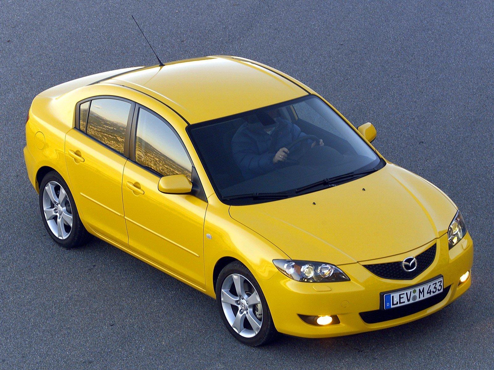 mazda 3 old yellow