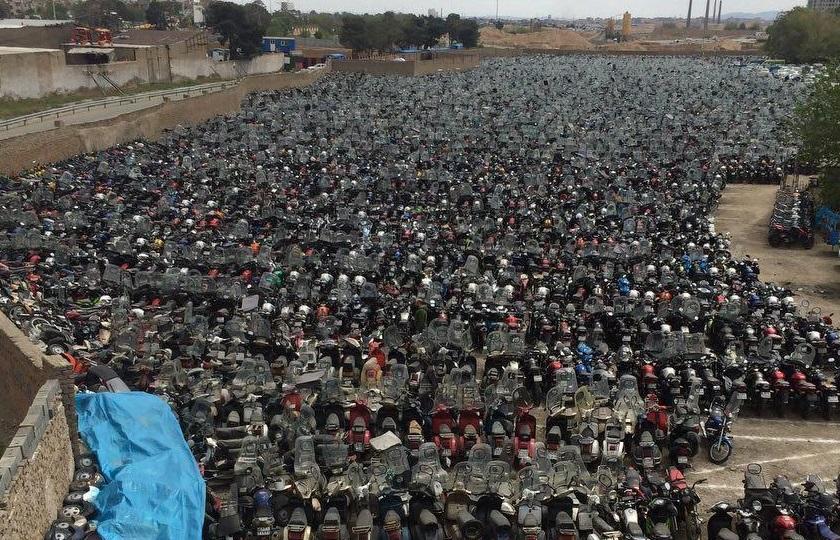 کشف 600 موتورسیکلت احتکار شده در تهران