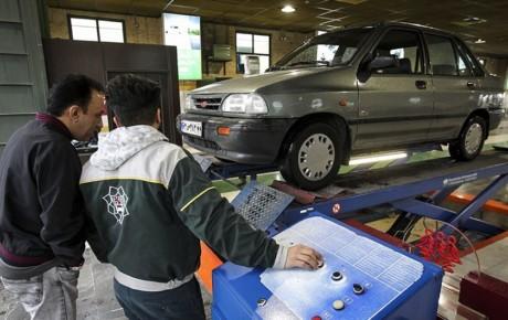 وضعیت اخذ معاینه فنی برتر توسط خودروها