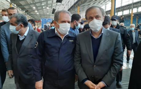 رونمایی از کامیونت ایرانی و افتتاح خط تولید مینی بوس پگاسوس