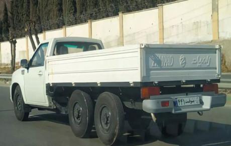 مشاهده تست فنی خودروی ۶ چرخ سایپا در خیابانهای تهران