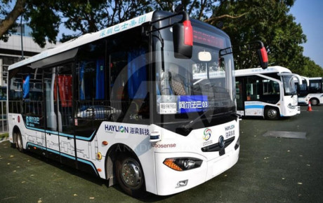 استفاده آزمایشی از اتوبوسهای خودران در چین