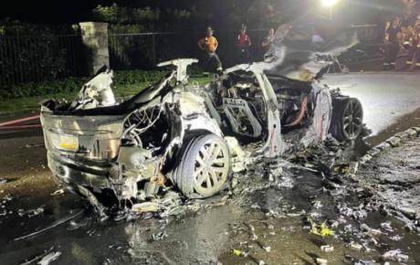 خودرو جدید و گرانقیمت تسلا آتش گرفت
