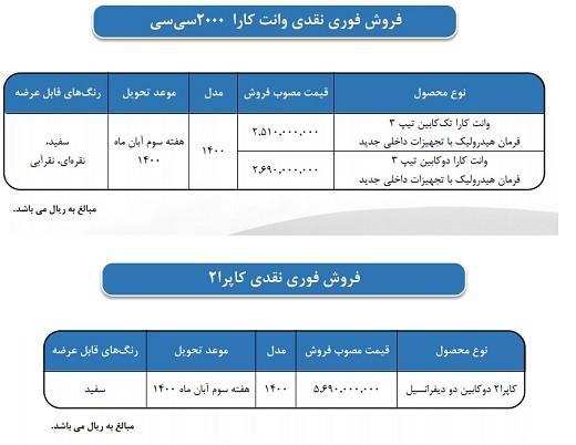 شرایط فروش محصولات بهمن موتور / شهریور 1400